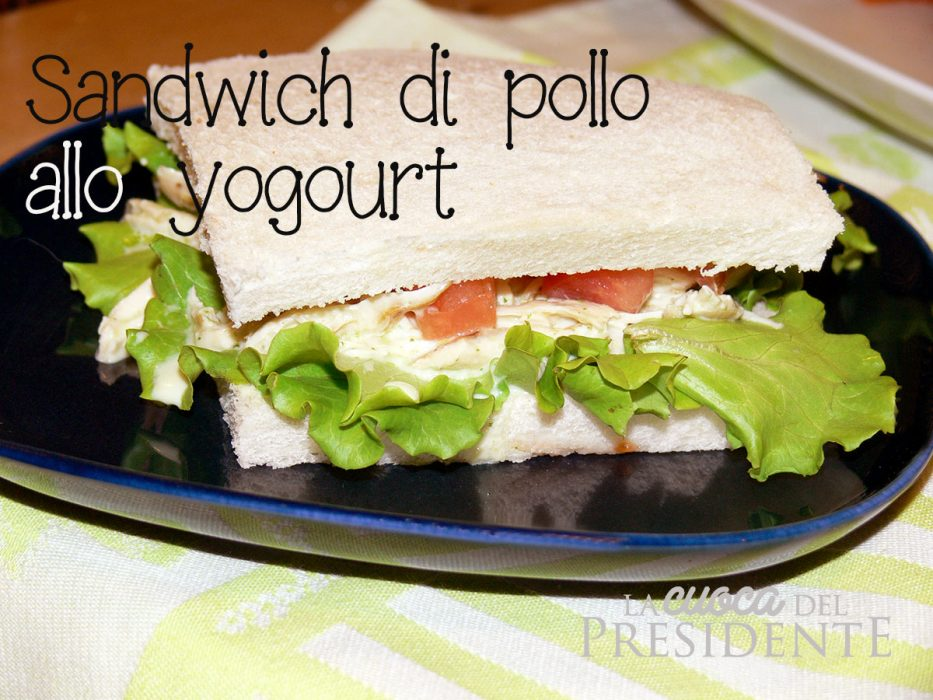 Sandwich light con pollo allo yogurt