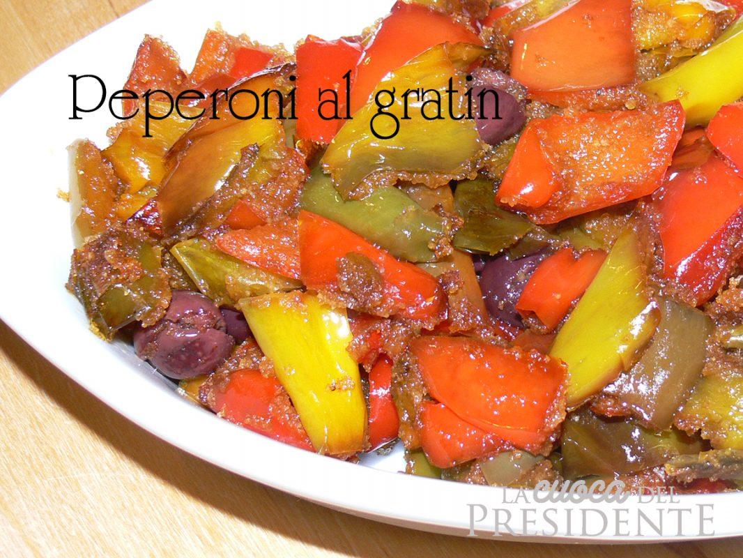 Peperoni veloci al gratin