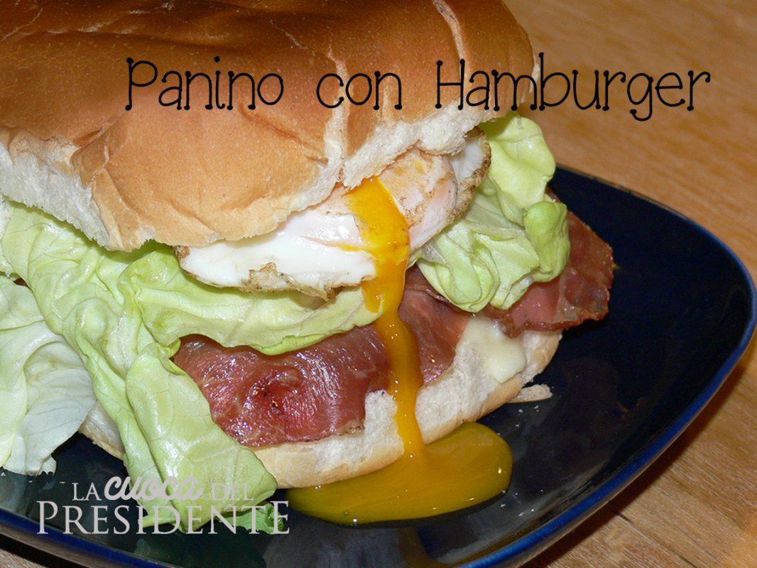 Panino con hamburger