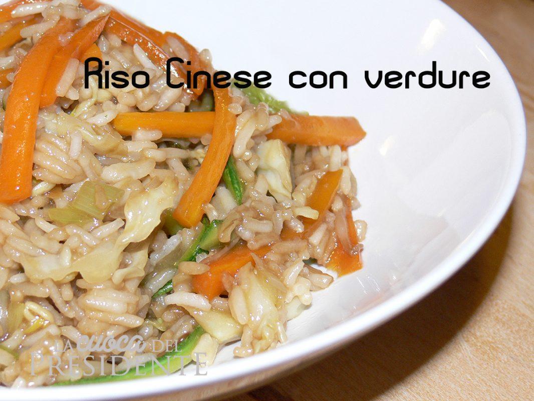 Riso cinese con verdure