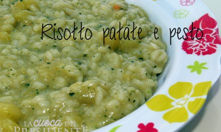 Risotto con patate e pesto