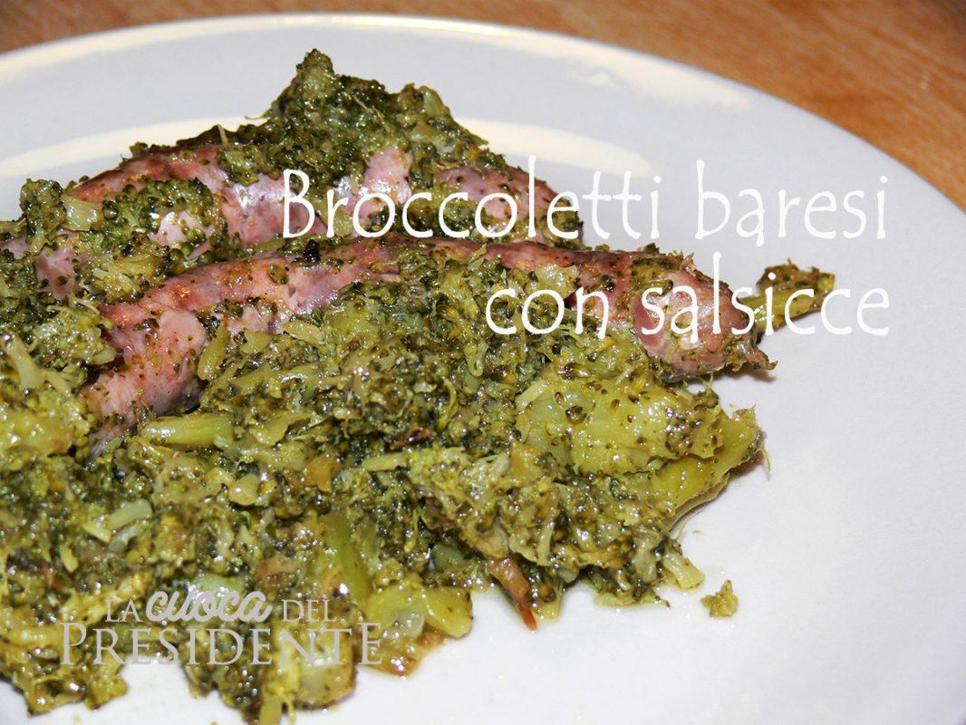Broccoli baresi con salsicce