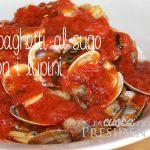 Spaghetti al sugo con i lupini