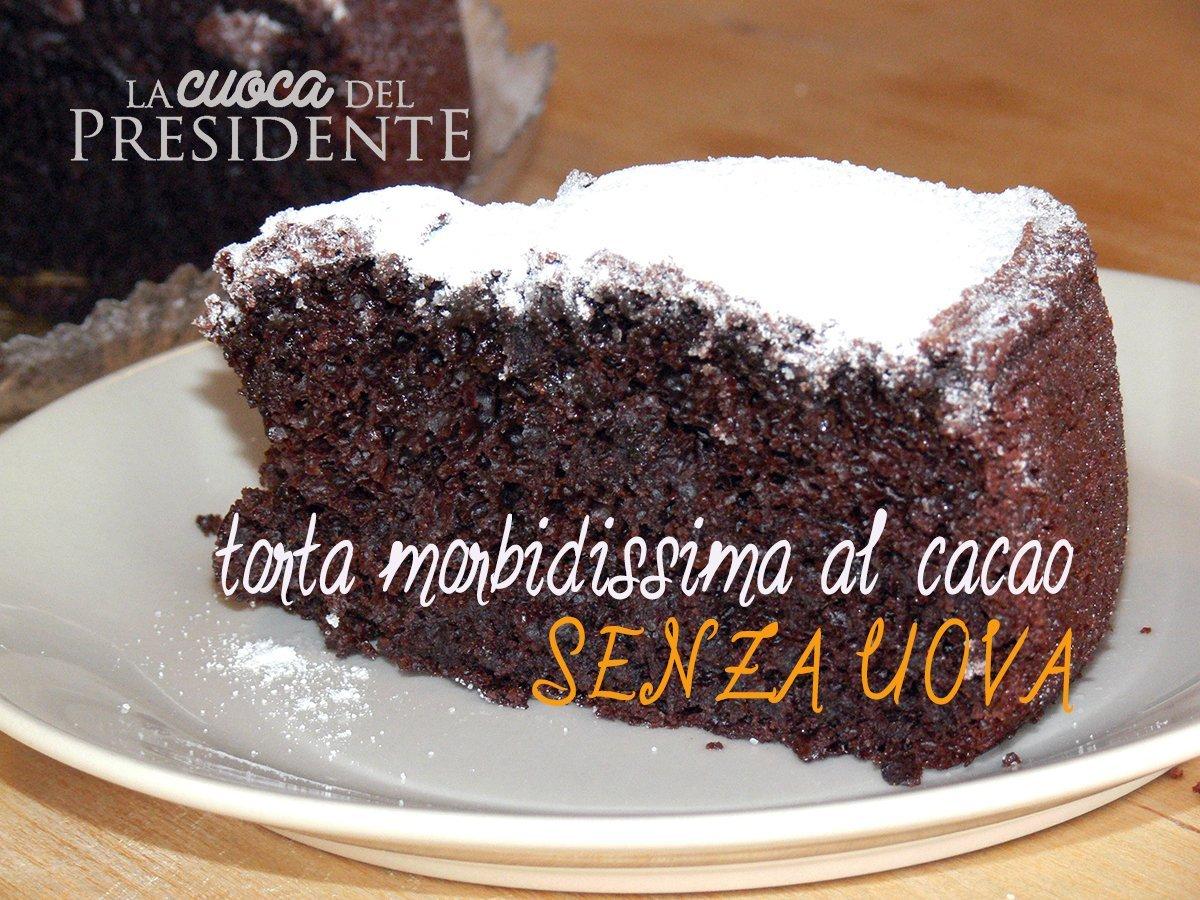 Torta Senza Uova Al Cioccolato.Torta Al Cacao Morbidissima Senza Uova