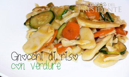 Gnocchi di riso con verdure
