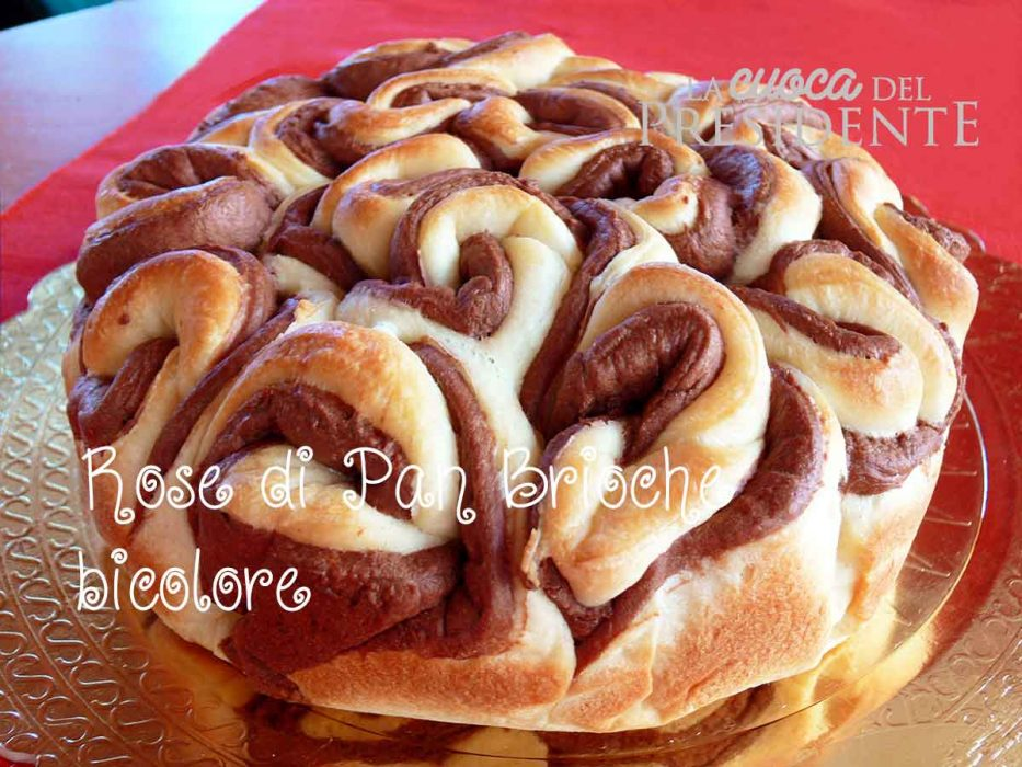 Torta di Rose di Pan Brioche Bicolore