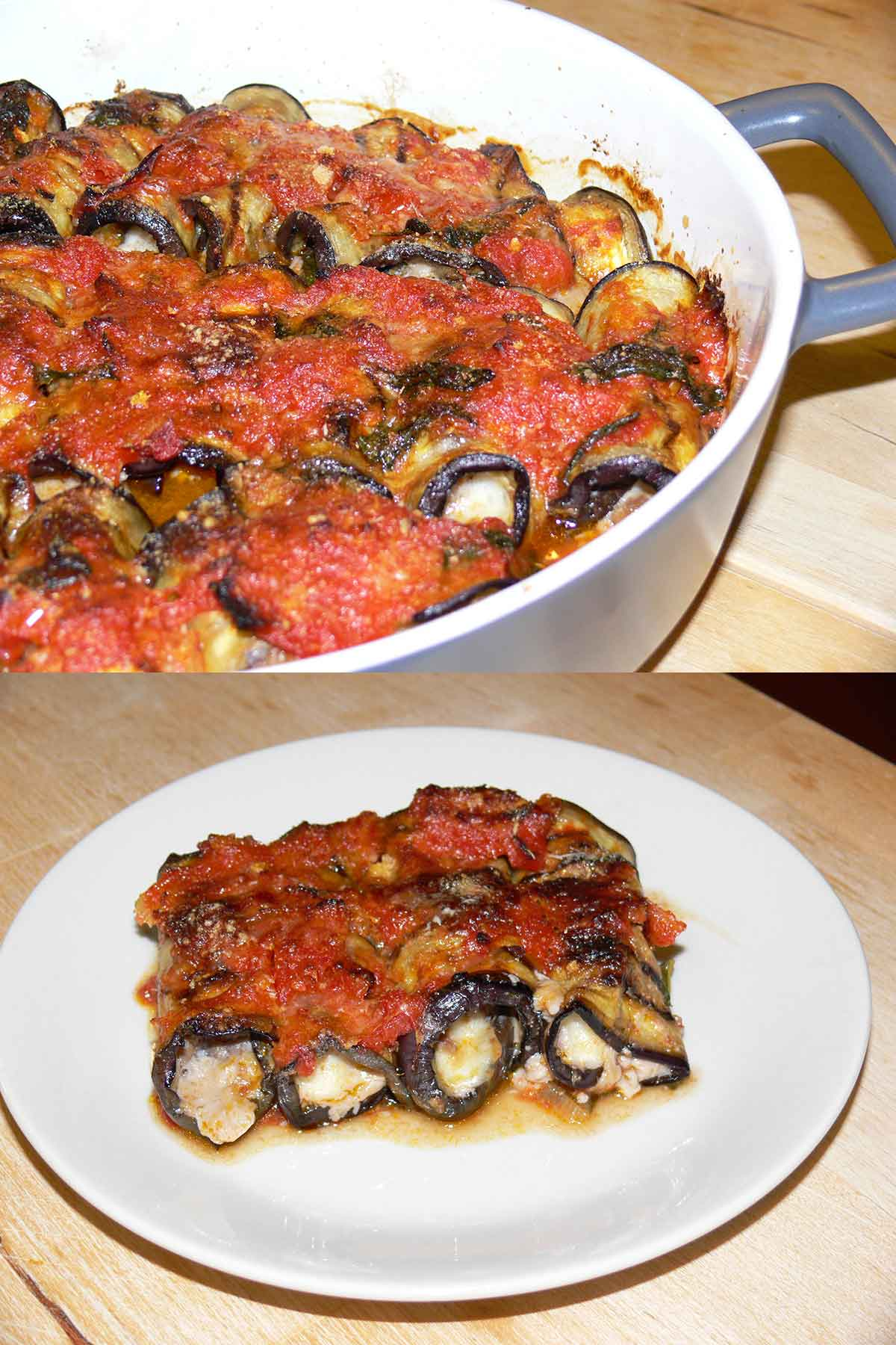Involtini di Melanzane Salentini - Cottura e in Piatto