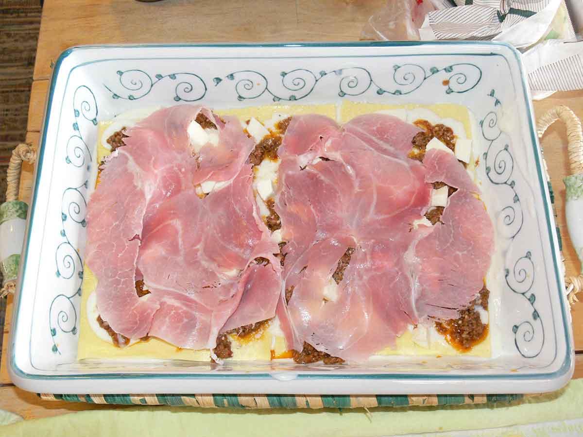 Pasticcio di Lasagna alla Bolognese Bianca