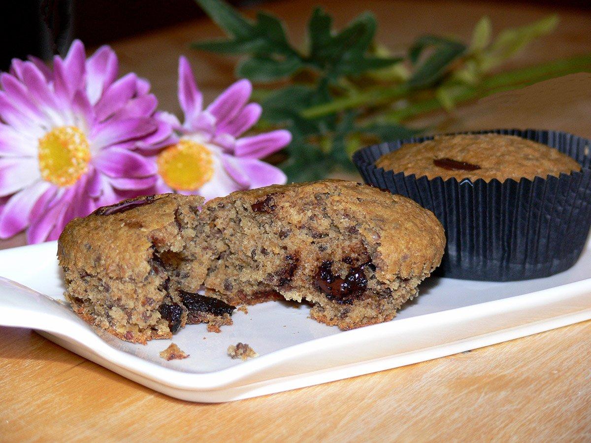 Muffin integrali con gogge di cioccolato