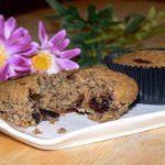 Muffin integrali con gocce di cioccolato