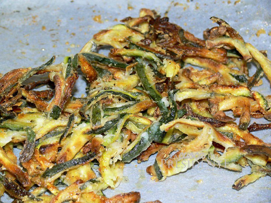 Zucchine al forno croccantissime