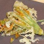 Fiori di zucca fritti con Tempura